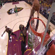 Lebron Denies Dunk!